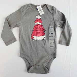 Old Navy Baby Long Sleeve One Piece Body Suit Gray